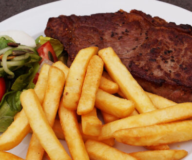 Steak-med-pommes
